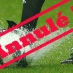 Stage de foot annulé !