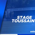 Stage de Toussaint 2020